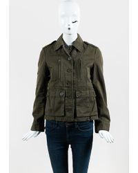 Marc Jacobs - Green Canvas Multi Pocket Buttoned Jacket - Lyst