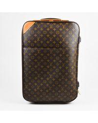 Louis Vuitton - Brown Monogram Coated Canvas Pegase 55 Suitcase - Lyst