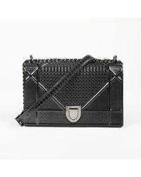 "Dior - Medium ""diorama"" Micro Cannage Patent Leather Shoulder Bag - Lyst"