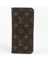 Louis Vuitton - Monogram Coated Canvas I-phone 7 Plus Folio - Lyst