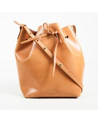 "Mansur Gavriel - ""cammello"" Brown Vegetable Tanned Leather ""bucket"" Bag - Lyst"