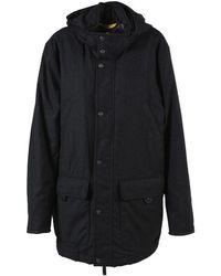 Canali - Grey Wool Hooded Coat - Lyst