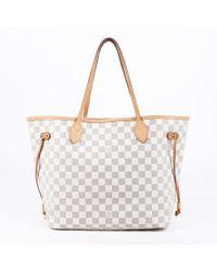 Louis Vuitton - Neverfull Mm Damier Azur Tote Bag - Lyst