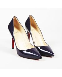 """Christian Louboutin Patent Leather """"pigalle"""" Pointed Court Shoes"""