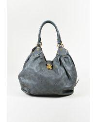 "Louis Vuitton - ""anthracite"" Grey Monogram ""mahina"" Leather ""l"" Shoulder Bag - Lyst"