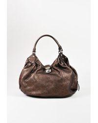 "Louis Vuitton | ""metallic Mordore"" Monogram ""mahina"" Leather ""l Hobo"" Bag | Lyst"