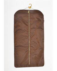 Louis Vuitton - Brown Nylon & Leather Zipped Folding Garment Cover Insert - Lyst