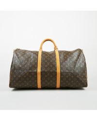 Louis Vuitton - Vintage Brown Monogram Coated Canvas Keepall Bandouliere 60 Bag - Lyst