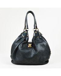 Louis Vuitton - Black Monogram Mahina Leather Large Hobo Bag - Lyst