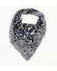 ESCADA - Grey Abstract Printed Scarf - Lyst