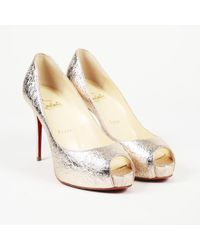 a2c945bc730b Lyst - Christian Louboutin Pre-owned Very Privé Leather Heels in ...