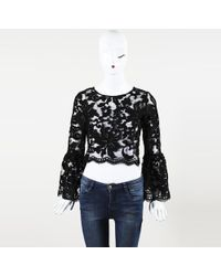 Alexis - Lace Cropped Top - Lyst