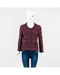 Isabel Marant - Etoile Red White Blue Knit Multi Pocket Jacket - Lyst