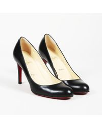 98791300878 Lyst - Christian Louboutin Pre-owned Simple Pump Leather Heels in Black