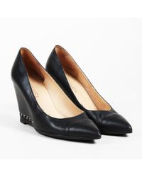 Chanel - Enchained Leather Wedge Pumps - Lyst