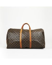 "Louis Vuitton - Vintage ""keepall"" Monogram Coated Canvas Duffle Bag - Lyst"