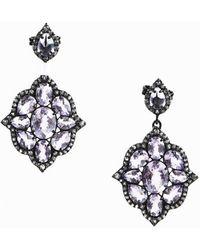 Unbranded - Amethyst White Topaz & Sterling Silver Earrings - Lyst