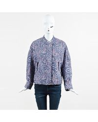 Christian Wijnants - Nwot Multicolor Nylon Paisley Quilted Bomber Jacket - Lyst