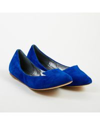 Belle By Sigerson Morrison - Royal Blue Suede Loafer Flats - Lyst