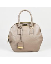 d569dc8cfec83 Burberry - Taupe Grained Leather Medium