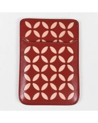 Alaïa - Nwd Red & Pink Leather Lasercut Iphone Slip Case - Lyst