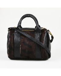 "Alexander Wang - ""rockie"" Spotted Calf Hair Leather Satchel Bag - Lyst"