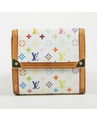 "Louis Vuitton - White ""monogram Multicolore"" Coated Canvas ""elise"" Wallet - Lyst"
