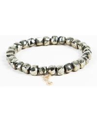 Sydney Evan - Pyrite Diamond Beaded Bracelet - Lyst