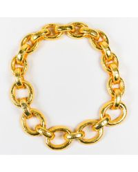 Jose & Maria Barrera - Gold Tone Metal Chunky Chain Link Necklace - Lyst