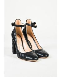 "Gianvito Rossi | Black Quilted Leather ""greta Driver"" Court Shoes 