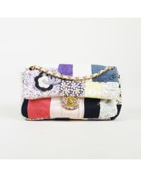 5a7ce2a9908726 Lyst - Chanel Multi Canvas & Patent Patchwork
