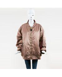 Vetements - X Alpha Industries Pink Nylon Knit Reversible Bomber Jacket - Lyst