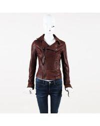 June - Leather Moto Jacket - Lyst