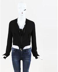 Yohji Yamamoto - Black Draped Jacket - Lyst