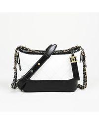 e1b4d888f806ae Chanel - Gabrielle Black Leather Handbag - Lyst