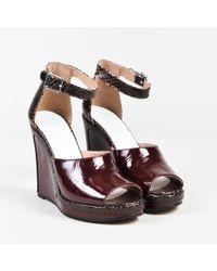 Maison Margiela - Nib Red Patent Leather Embossed Snakeskin Sandals - Lyst