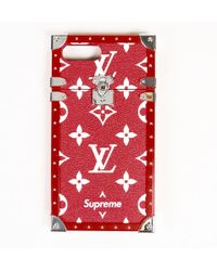 "Louis Vuitton - Red Monogram Coated Canvas ""eye Trunk"" Iphone 7+ Case - Lyst"