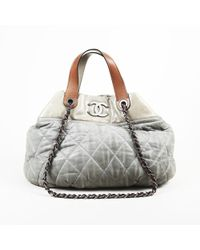 """Chanel - Quilted Leather """"in The Mix"""" Large Shoulder Bag - Lyst"""