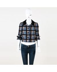 Chanel - 2009 Checked Wool Tweed Cropped Blazer - Lyst
