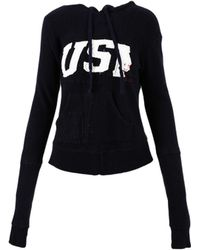 "Greg Lauren - Navy Cotton ""usa"" Hoodie - Lyst"
