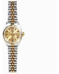 Rolex - Datejust 18k Gold Watch - Lyst