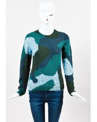 Risto - Green Multicolor Wool Mohair Abstract Long Sleeve Sweater Top - Lyst