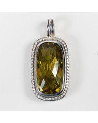 "David Yurman - Sterling Silver Diamond Embellished Lemon Citrine ""albion"" Pendant - Lyst"