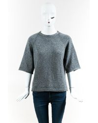 Soyer - Grey Wool Blend Short Sleeve Pullover Jumper - Lyst