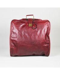 Bottega Veneta - Vintage Red Leather Diamante Embossed Folding Garment Bag - Lyst