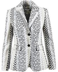 Altuzarra - Beige Multicolor Cotton Embroidered Blazer - Lyst