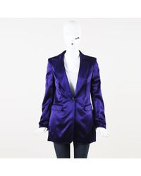 Rena Lange - Satin Single Button Blazer - Lyst