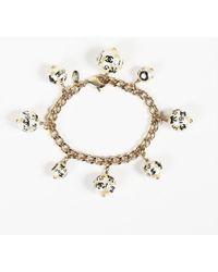 Chanel - 2005 Chain 'cc' Faux Pearl Bracelet - Lyst