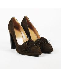 Hermès - Pre-owned Brown Suede Heels - Lyst