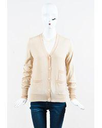 Céline | Cream Cashmere Cardigan Sweater Set | Lyst